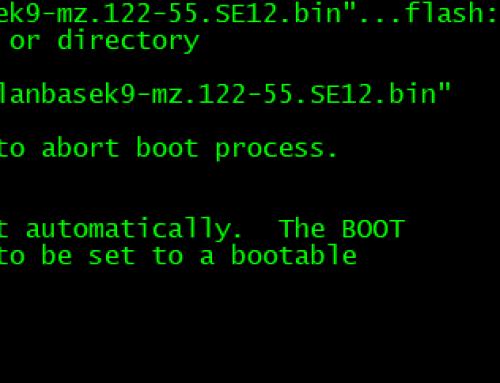 Cisco IOS-ის აღდგენა Xmodem-ის და Console-ის კაბელის მეშვეობით
