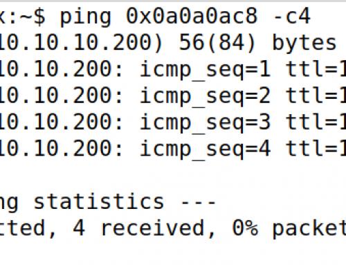 IP მისამართების დაწერის ეგზოტიკური ხერხები